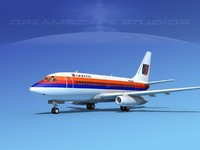 boeing 737 737-100 3d max
