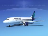 boeing 737 airliner 737-300 3d model