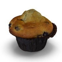 blueberry muffin 3d obj