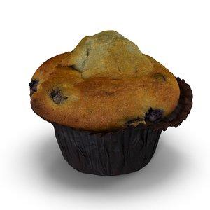 blueberry muffin 3d obj