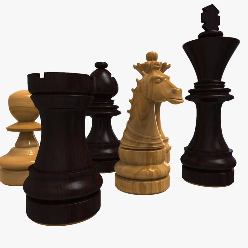 chess pieces c4d