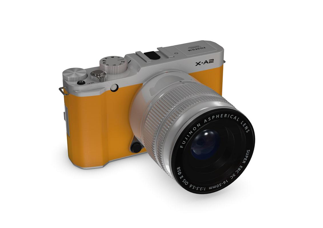 fujifilm camera x-a2 3d model