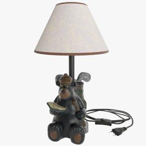 lamp bear c4d