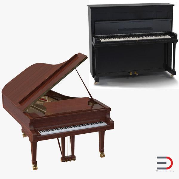 pianos set grand 3ds