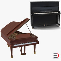 pianos set grand 3ds