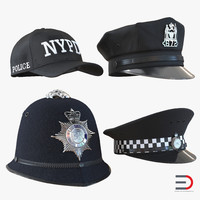 3d police hats 2