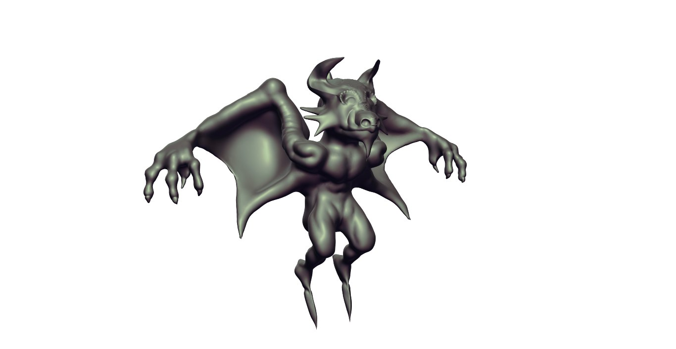 demon 3d obj