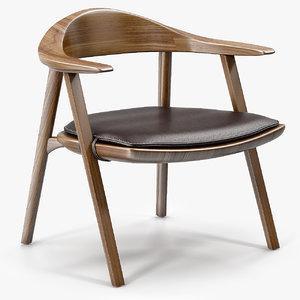 3d model of mantis lounge chair bassamfellows