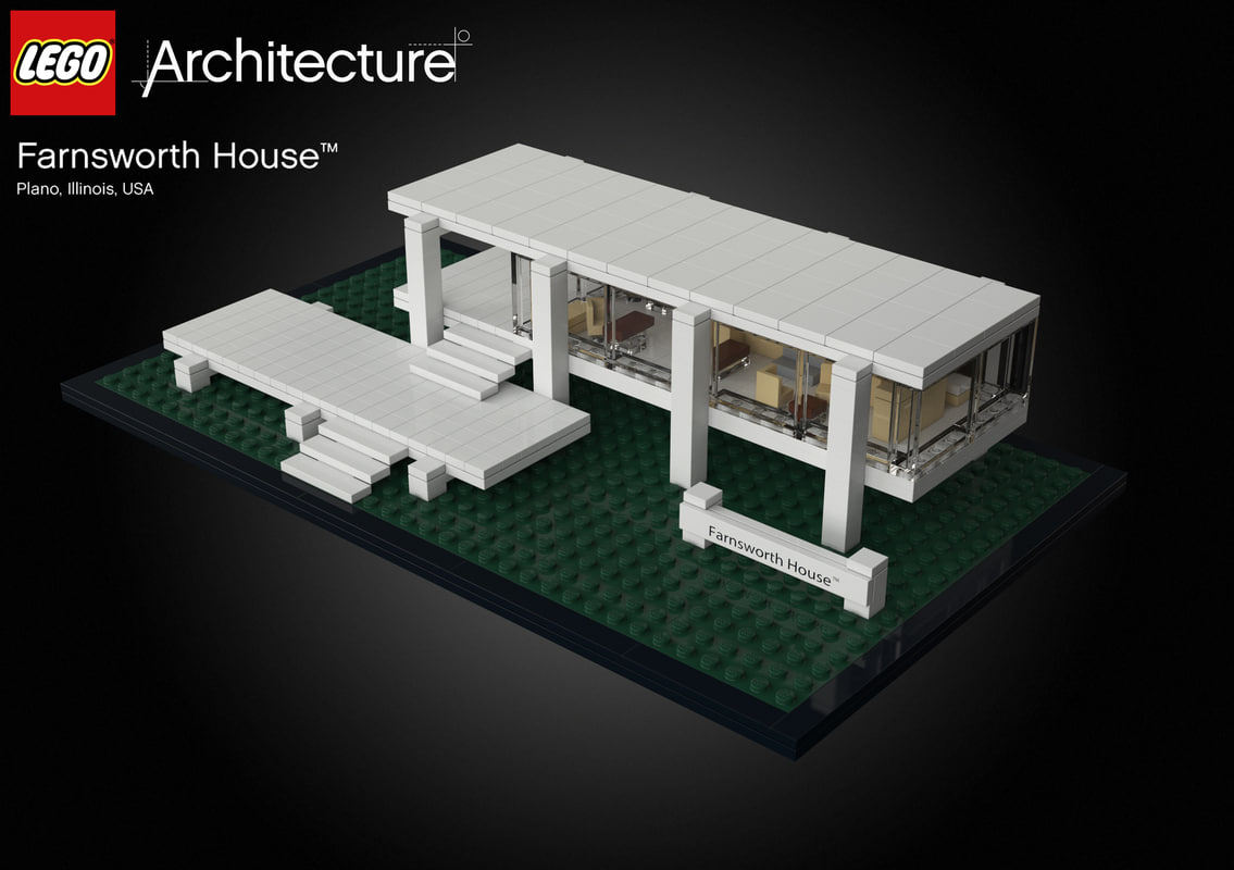 3d farnsworth house lego model