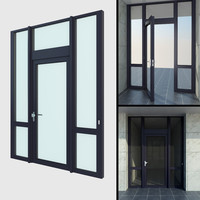 upvc french patio door 3d dxf