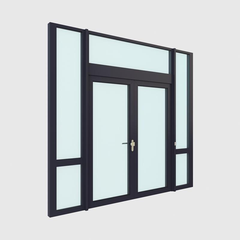 3d upvc french patio double door