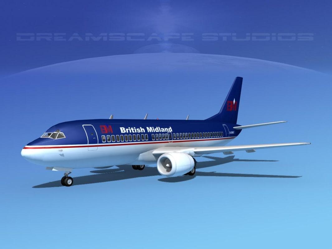 boeing 737 737-300 1 3d 3ds