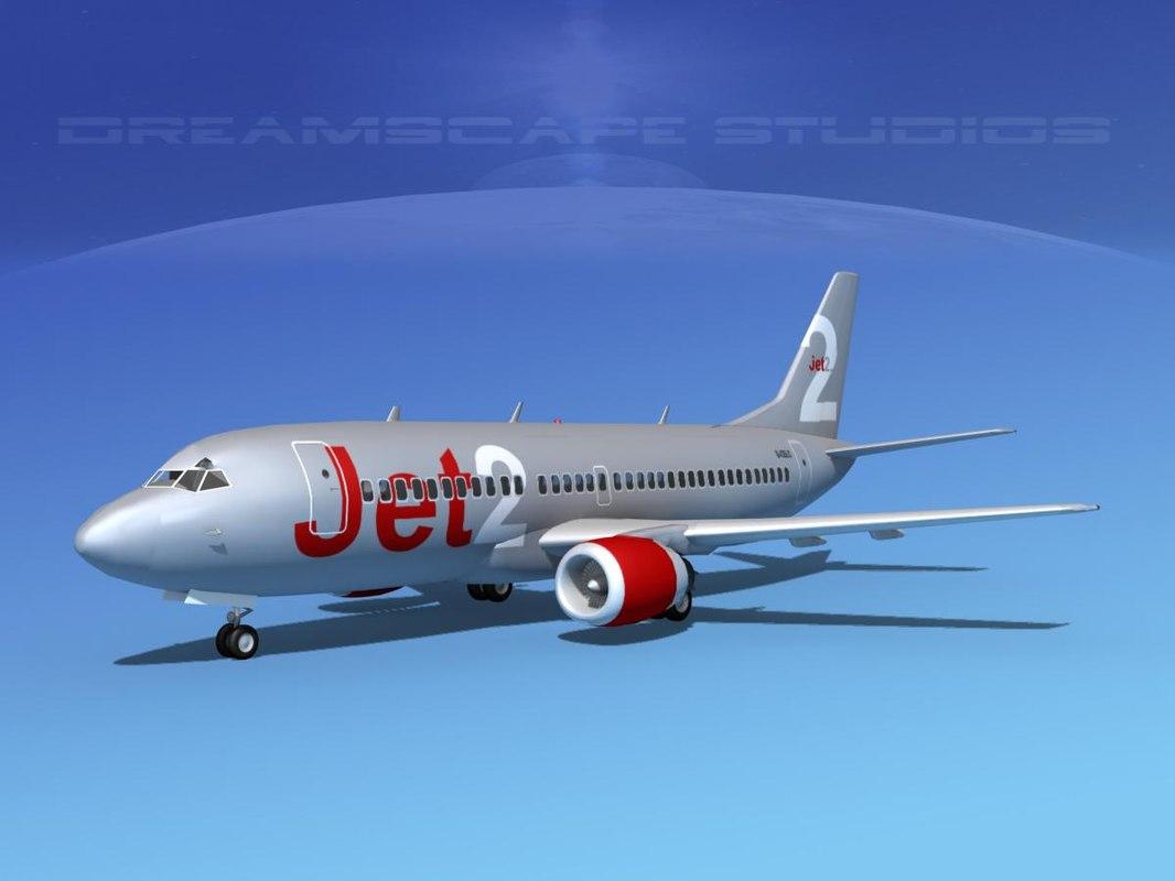 boeing 737 737-300 3d max