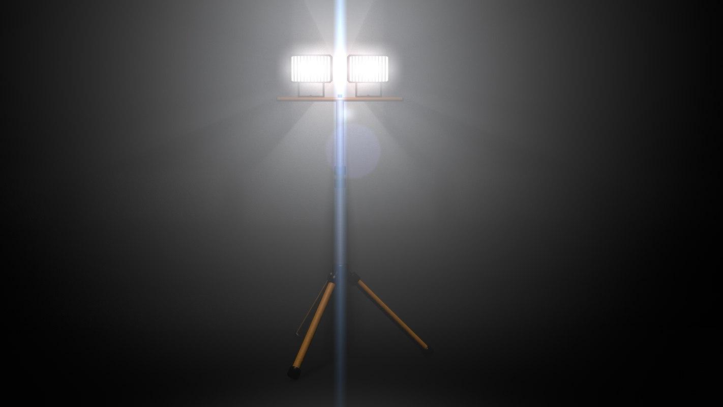 3d c4d halogen light