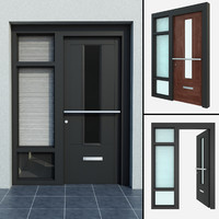High quality model of door #5 Exterior door (in 2 materails: grey and wood)