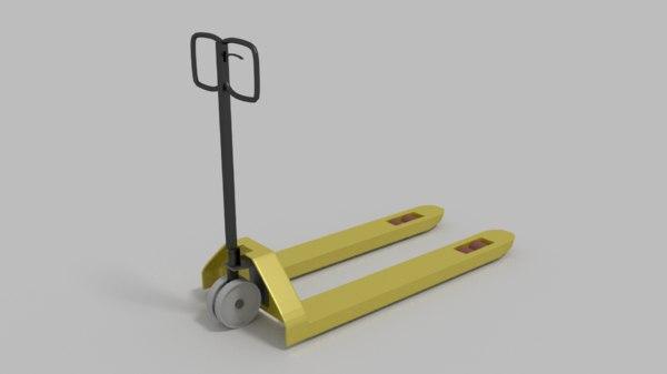 pallet jack 3d model