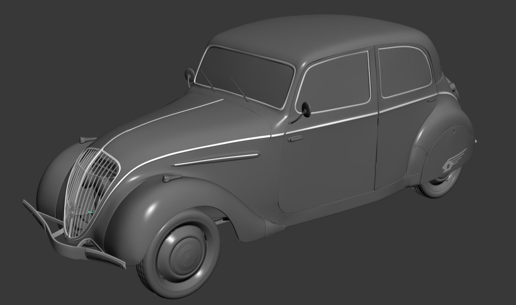 3d peugeot 202 antique car