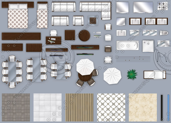 Texture Other 2d Floor Plan