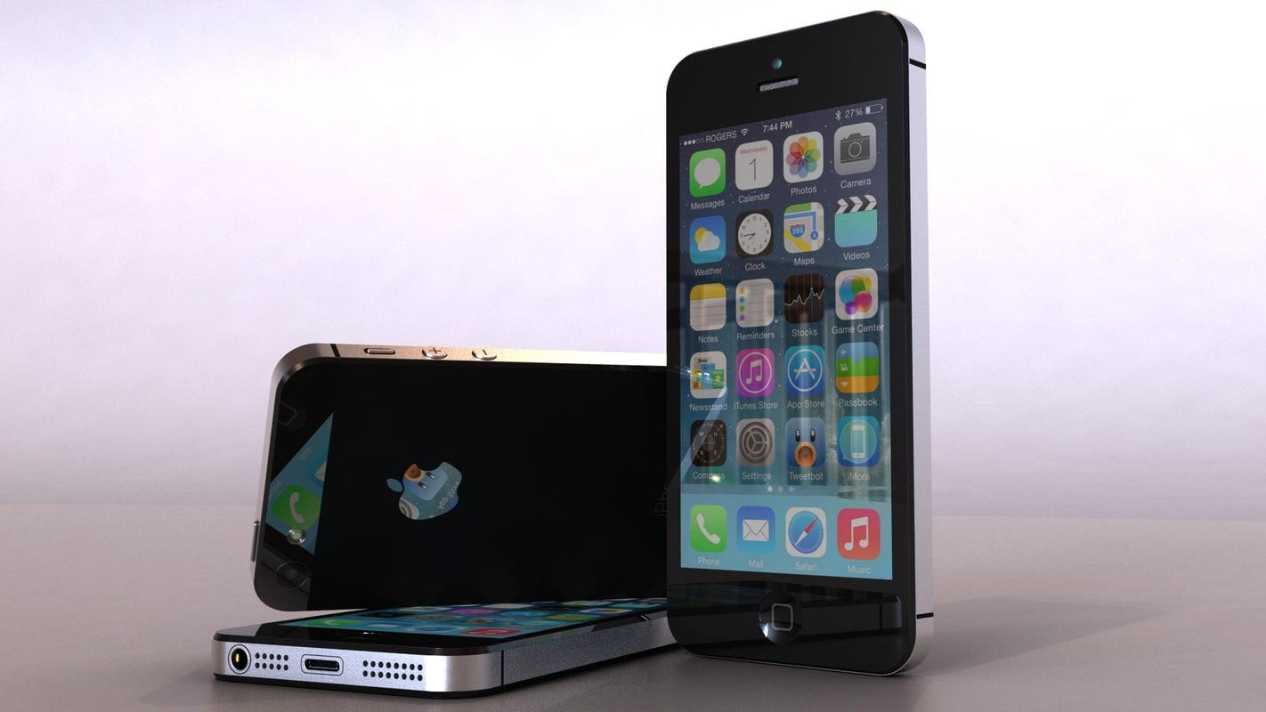 phone iphone 5 3d model