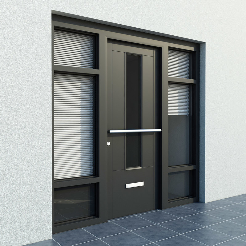 3d entrance exterior door blinds model