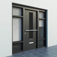 High quality model of door #6 Exterior door with blinds