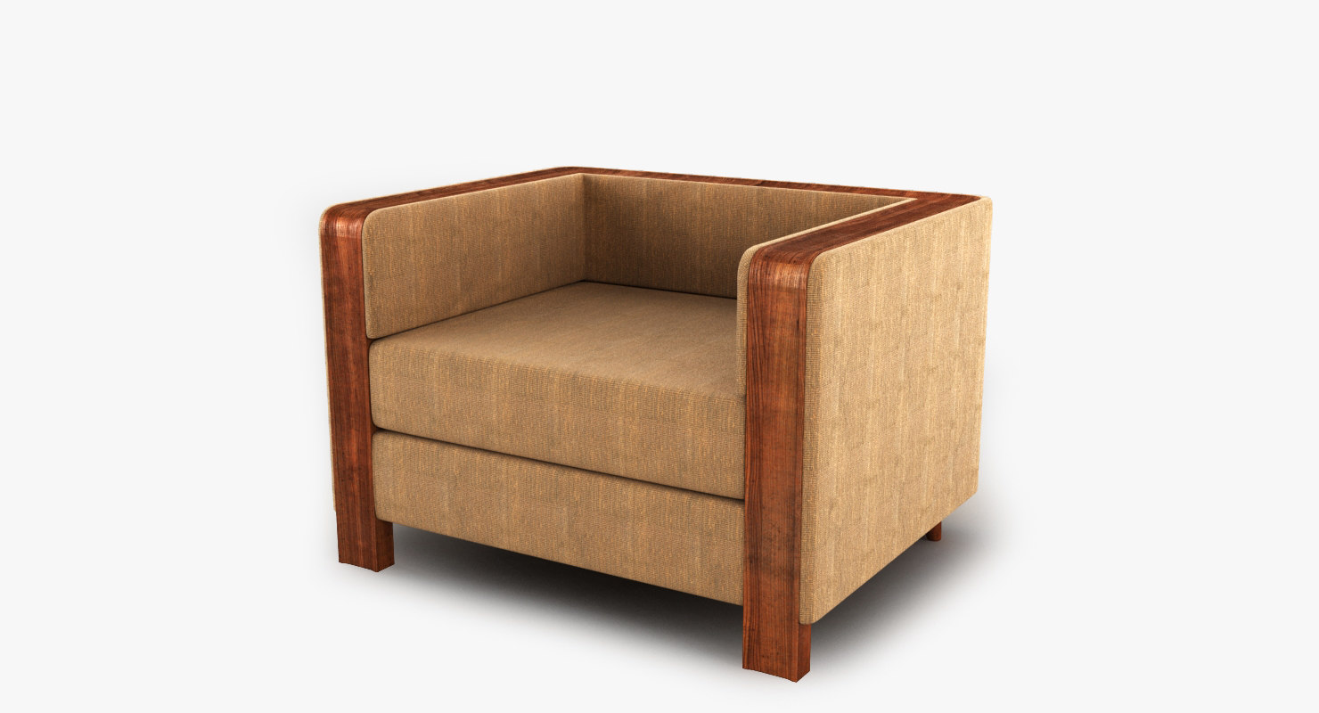 couch repete 3d max