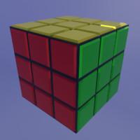 cube 3d blend