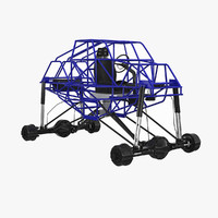 3d model monster truck frame