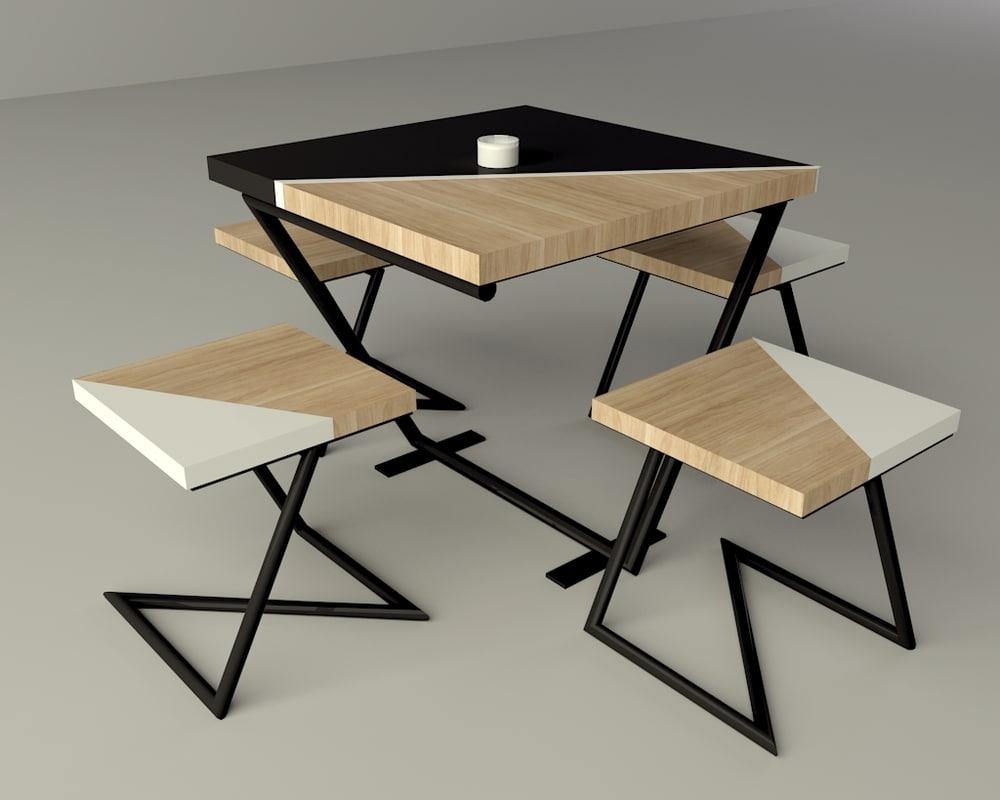 table set 3d 3ds