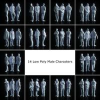 male character 14 human 3d model