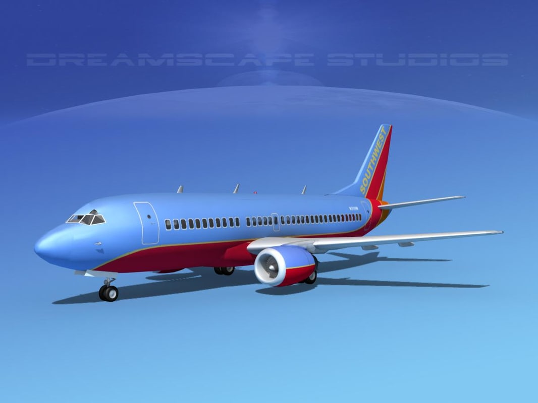 boeing 737 airliner 737-300 3d dxf