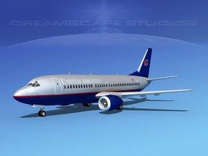 3d model boeing 737 airliner 737-300