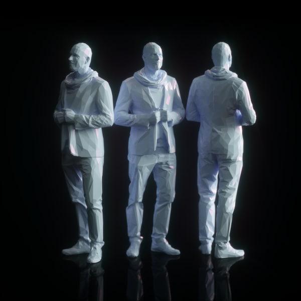 male character human 3d model