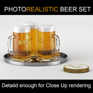 beer glass 3d model