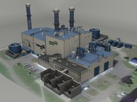 3d model of thermal power plant