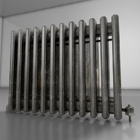 old radiator 3d c4d