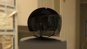 helmet visor 3d model