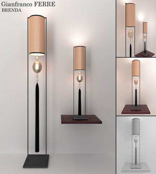 3d brenda lamp gianfranco model