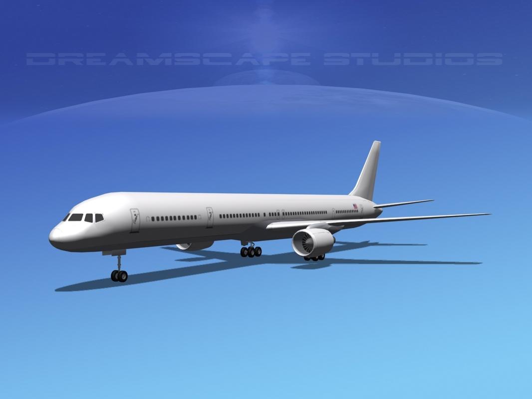 3d model boeing 757-300