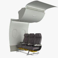 A380 Cabin Wall with Back Seats