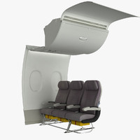 A380 Cabin Wall with Standard Seats