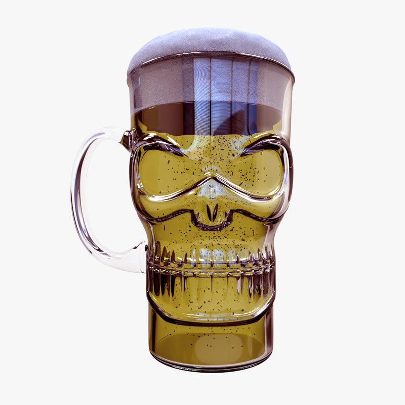 c4d mug glass beer