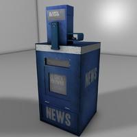 news paper box c4d