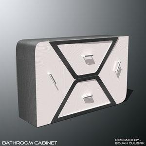 3d model andromeda bathroom cabinet