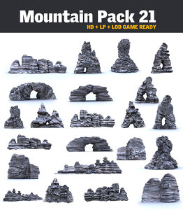 3d model mountains monument pack 21