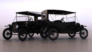 t classic car 3d model