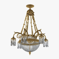 19th Century French Louis XVI Antique Chandelier