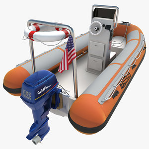 rigid inflatable boat 3d 3ds