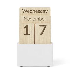 3d wooden calendar model