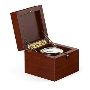 3d golden watch wooden box